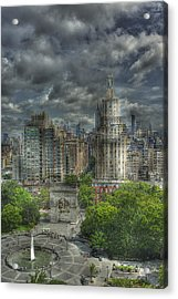 Washington Square Acrylic Print by William Fields