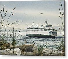 Washington State Ferry Acrylic Print by James Williamson