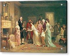 Washingtons Birthday Acrylic Print by Jean Leon Jerome Ferris