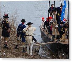 Acrylic Print featuring the photograph Washington's Crossing 2010--washington Comes Ashore by Steven Richman