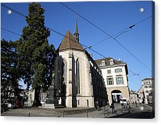 Wasserkirche - Limmatquai, Zurich Acrylic Print