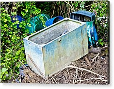 Waste Containers Acrylic Print