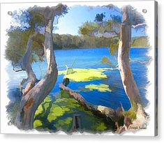 Acrylic Print featuring the photograph Wat-0002 Avoca Estuary by Digital Oil
