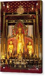 Wat Chedi Luang Wora Wihan Acrylic Print by Greg Vaughn - Printscapes