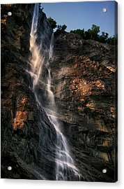 Geirangerfjord Waterfall Acrylic Print by Jim Hill
