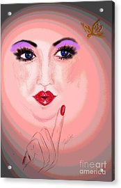 Watch It Acrylic Print by Desline Vitto