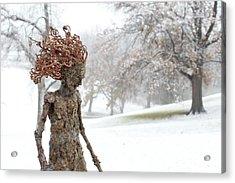 Watch Me Go Video Still Snow Scene Acrylic Print