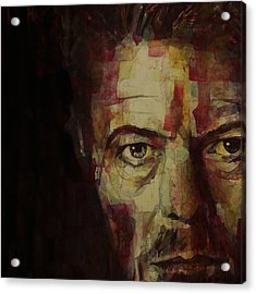 Watch That Man Bowie Acrylic Print by Paul Lovering