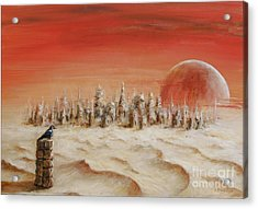 Acrylic Print featuring the painting Watcher by Arturas Slapsys
