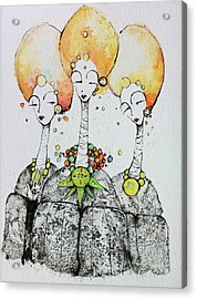 Watchers Acrylic Print by Mark M  Mellon