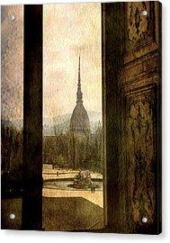 Watching Antonelliana Tower From The Window Acrylic Print