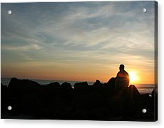 Watching Days End Acrylic Print by Randy Morehouse