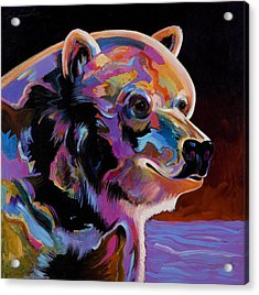 Acrylic Print featuring the painting Watching For The Catch by Bob Coonts