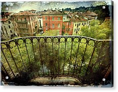 Watching From The Balcony Acrylic Print by Vittorio Chiampan
