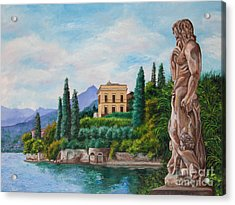 Watching Over Lake Como Acrylic Print by Charlotte Blanchard