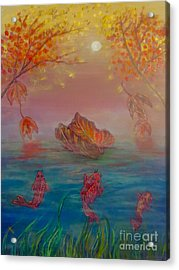 Watching The Dance Of The Fallen Elements Acrylic Print