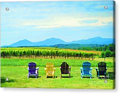 Watching The Grapes Grow Acrylic Print