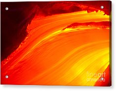 Watching The Lava Flow Acrylic Print by Erik Aeder - Printscapes