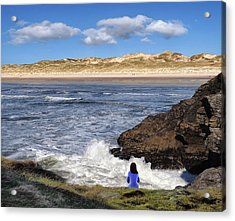 Watching The Waves At Fairy Bridges, Bundoran, Donegal - Ireland Acrylic Print