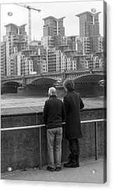 Watching The World Change Acrylic Print by Jez C Self