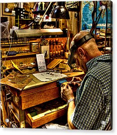 Watchmaker Acrylic Print by William Wetmore