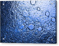 Water Abstraction - Blue Rain Acrylic Print by Alex Potemkin
