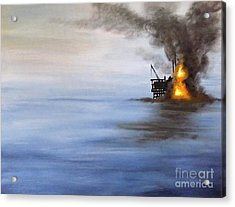 Water And Air Pollution Acrylic Print