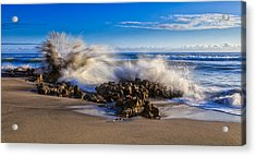 Water And Earth Collide Acrylic Print by Andres Leon