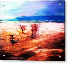 Acrylic Print featuring the painting Water And Earth by Winsome Gunning