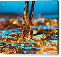 Water And Oil Acrylic Print