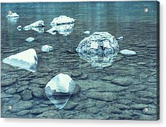 Water And Rocks Acrylic Print by Svetlana Sewell