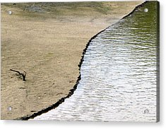 Water And Sand Acrylic Print by Dottie Dees