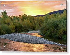 Water And Sky Acrylic Print by Mary Hone