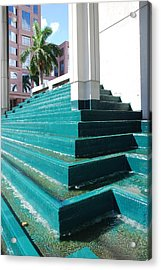 Acrylic Print featuring the photograph Water At The Federl Courthouse by Rob Hans