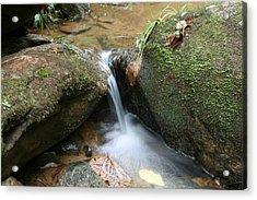 Water At Work Acrylic Print by Walt Reece