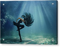 Water Ballet Acrylic Print by Debby Herold