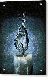Water Candle - Da Acrylic Print by Leonardo Digenio