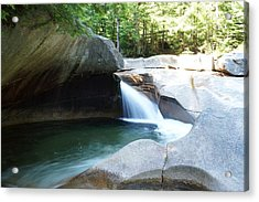 Acrylic Print featuring the photograph Water-carved Rock by Kerri Mortenson