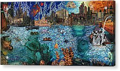 Water City Acrylic Print by Emily McLaughlin