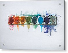 Water Colors Acrylic Print by Scott Norris