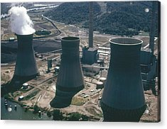 Water Cooling Towers Of The John Amos Acrylic Print by Everett