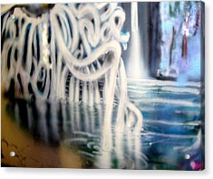 Acrylic Print featuring the painting Water Creature by Steven Holder