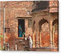 Water Delivery In Vrindavan Acrylic Print