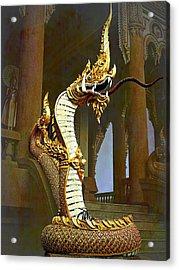 Water Dragon-  Phaya Naga Acrylic Print