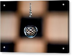Water Drop Chess Board Acrylic Print
