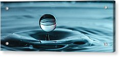 Water Drop With Milk Acrylic Print