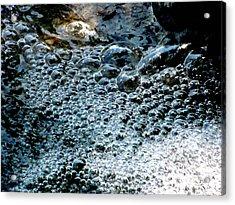 Water Fall Bubbles Acrylic Print by Douglas Pike