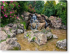 Water Falling  At Lyndale Park Acrylic Print