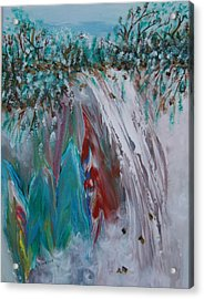 Acrylic Print featuring the painting Water Falls  by Sima Amid Wewetzer