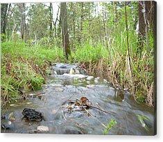 Water Flows After A May Rain Acrylic Print by Kent Lorentzen